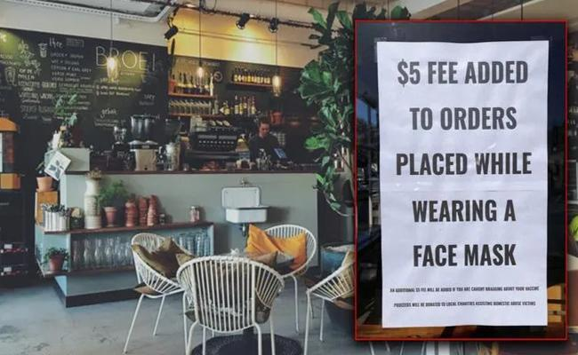 Usa: California Cafe Charges $5 People Wearing Mask Fine  - Sakshi