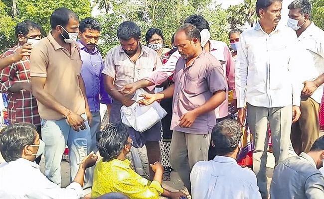 Distribution of Anandaiah Ayurvedic medicine in Krishnapatnam - Sakshi