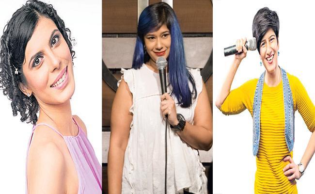 Anu Menon And Jeeya Sethi Neeti Palta Stand Up Comedy Profession And Rocking - Sakshi