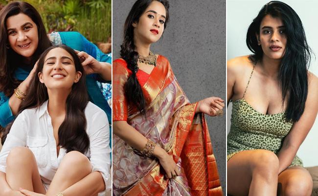 Social Halchal : Sara Ali khan, Neha Kakkar, Deepthi sunanina, Hebah Patel Photos - Sakshi