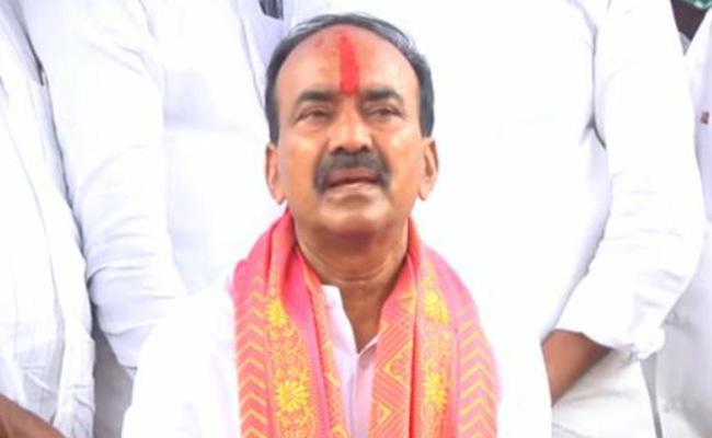 Huzurabad: Etela Rajender Fires On TRS Over By Polls - Sakshi