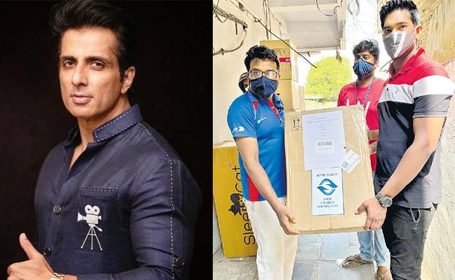 Sonu Sood Help To Covid Patient In Khammam Over Oxygen Contraction - Sakshi