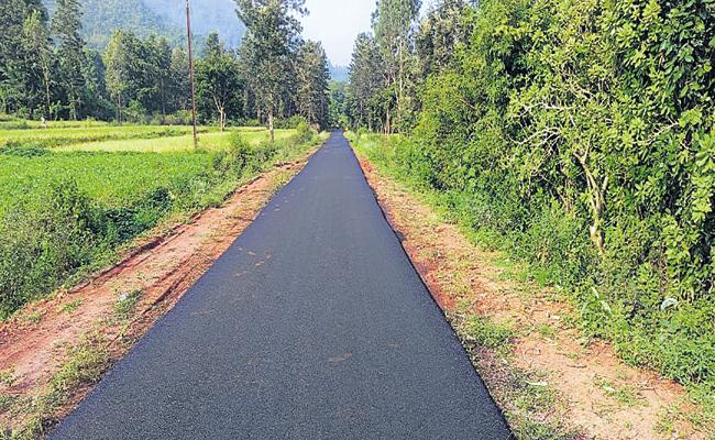 YS Jagan govt has now made new roads available to hundreds of villages in AP - Sakshi