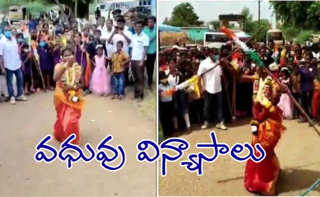 Bride Entertains Guests With Her Martial Arts Skills During Wedding In Tamilanadu - Sakshi