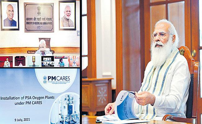 1,500 PSA Oxygen plants to be set up across country - Sakshi