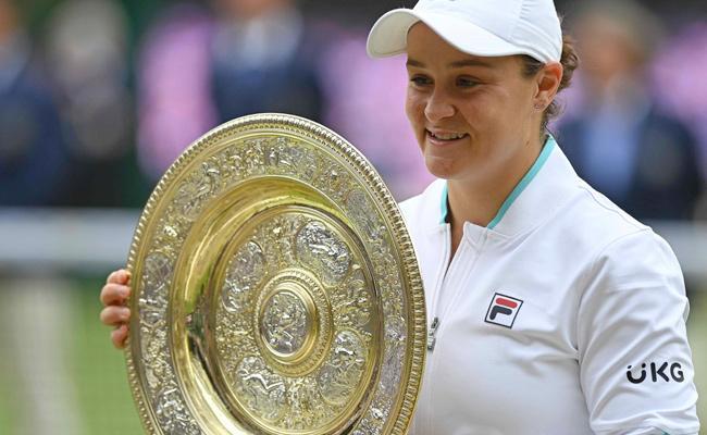 Wimbledon 2021:Ashleigh Barty Beats Pliskova To Win Maiden Wimbledon Title - Sakshi
