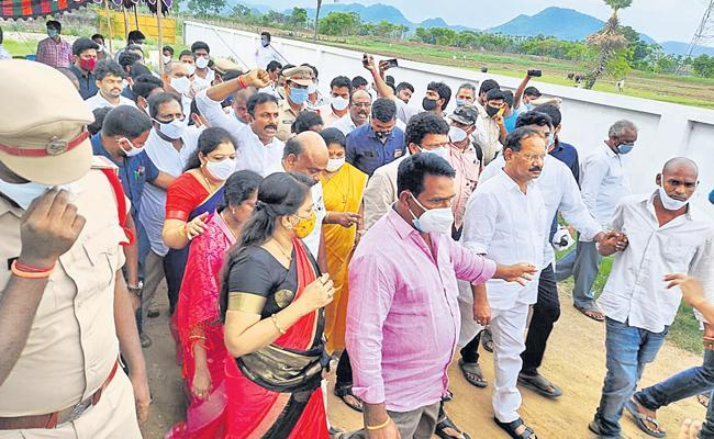 TDP Leaders Arrested Over Covid Rules Violation In East Godavari - Sakshi