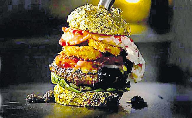 Most expensive burger on record All over the world - Sakshi