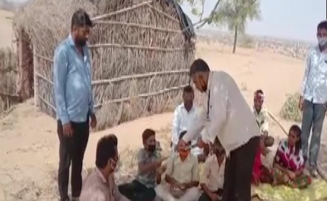 Teachers Travel By Camel To Teach Students In Rajasthan At Rural Areas - Sakshi