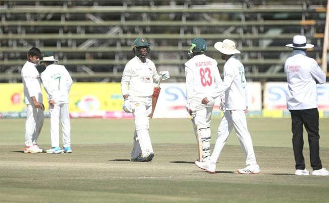 Bangladesh set a target of 477 runs for Zimbabwe - Sakshi