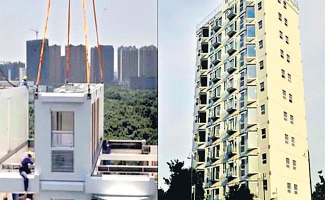 China: Developer Builds 10 Storey Building Changsha Over 28 Hours - Sakshi