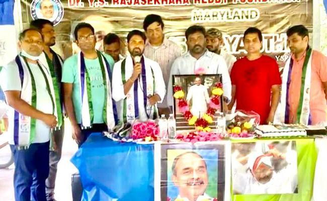 NRI Telugu People And YSRCP Leaders Offer Their Tribute To Late CM YSR - Sakshi
