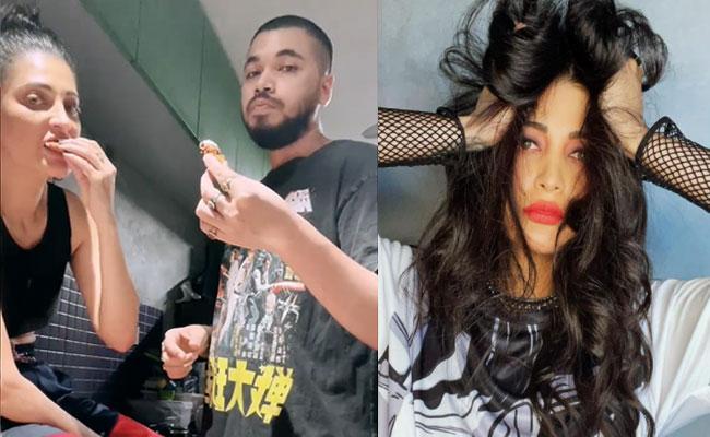 Shruti Haasan And Her Boyfriend Santanu Hazarika Eating Fried Chicken - Sakshi