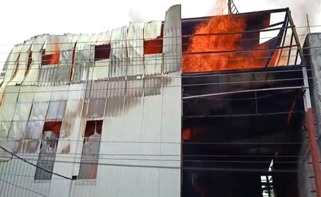 Fire Accident In Flywood Industry At Balanagar - Sakshi