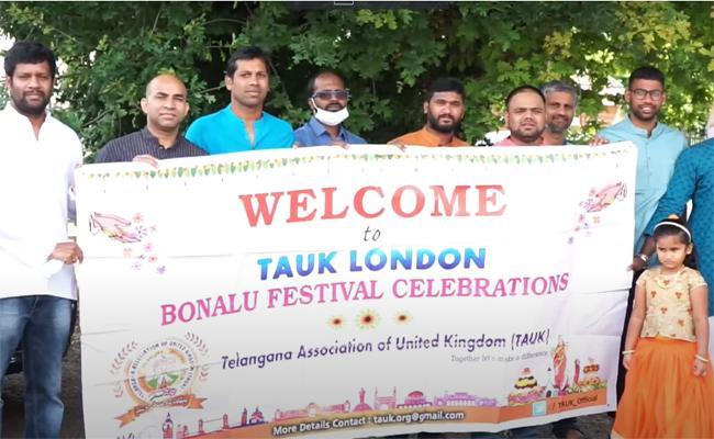 Telangana Association Of Uk Celebrates Bonalu Festival In London - Sakshi