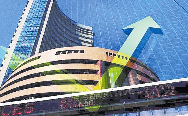 Positive inflation and industrial production figures gave stock market boost - Sakshi