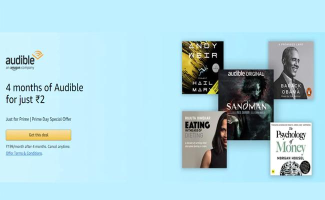 Audible Four Months Subscription Offer At Rs 2 For Prime Members - Sakshi