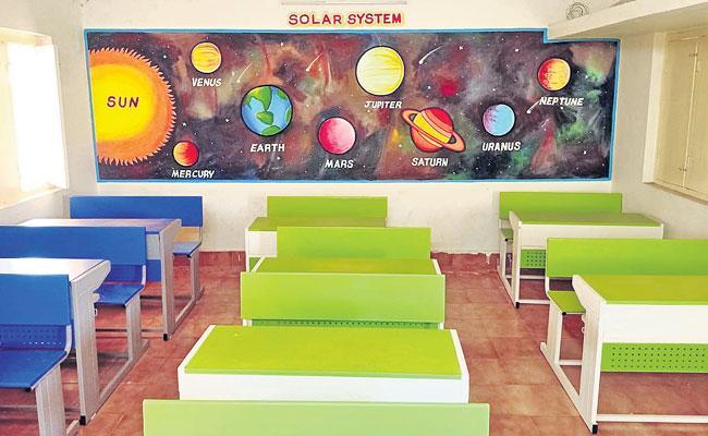 Nadu Nedu: Andhra Pradesh Government Schools Get New Look - Sakshi