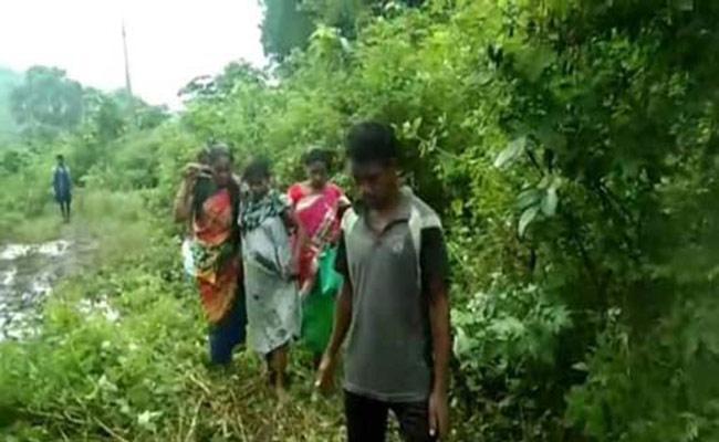 Pregnant Odisha Woman Walks Km For Treatment Rayagada - Sakshi
