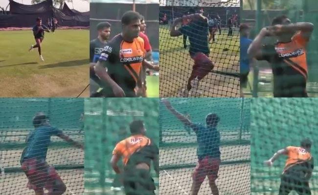 Muttiah Muralitharan Son Imitates His Father Bowling Action Became Viral - Sakshi
