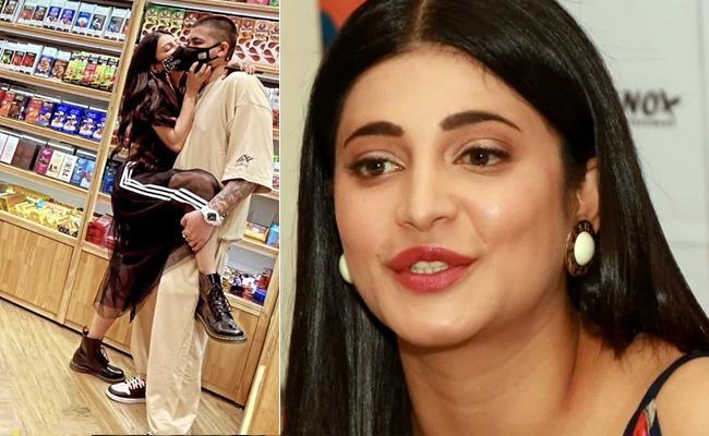 Viral Pics: Shruthi Haasan Hugging Her Boyfriend Santanu In Supermarket - Sakshi