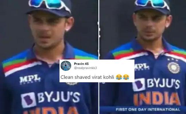 Ishan Kishan ODI Debut Pic Is Reminding Clean Shaved Virat Kohli - Sakshi