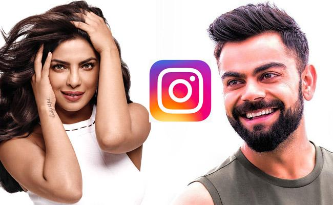 Priyanka Chopra and Virat Kohli are the only Indians on the Instagram Rich List 2021 - Sakshi