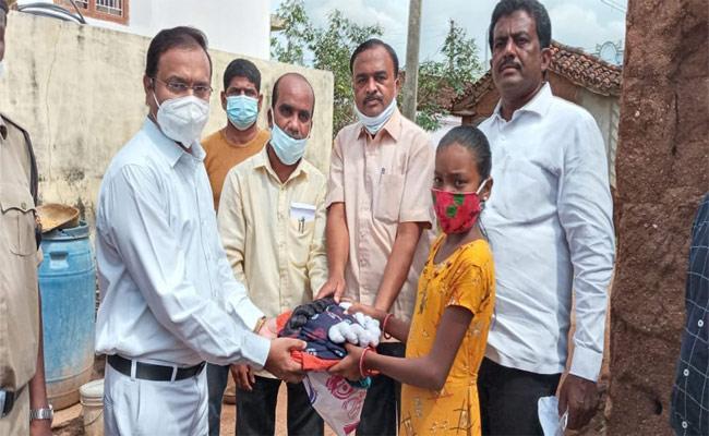 Magistrate Helps Poor Girl In Jagtial - Sakshi