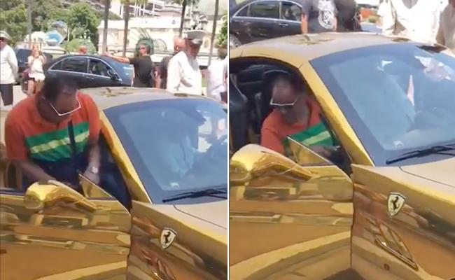 Anand Mahindra reaction on Video of Indo Americans in Gold Ferrari - Sakshi