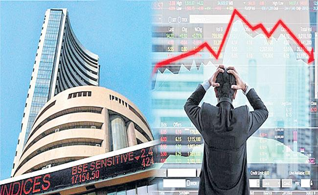 Sensex slips 586 points, Nifty ends below 15,800 dragged by banks, metals - Sakshi