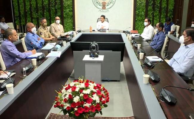 CM YS  Jagan Review Meeting On Coronavirus Control In AP At Tadepalli - Sakshi