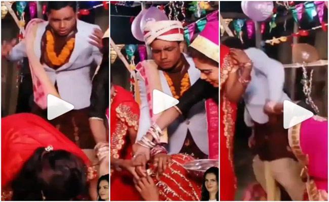 Viral Video: Scared Groom Runs Away After Bride Falls Unconscious During Sindoor Ceremony - Sakshi