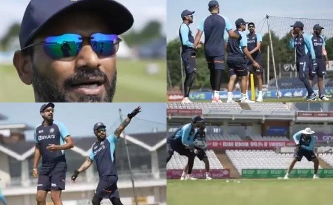 IND VS ENG: Video Of Team Kohli-Rohit Beat Team Ashwin-Pujara In Practice - Sakshi