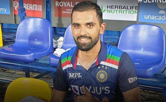 Ind Vs SL: Match Winner Deepak Chahar Emotional After Thrilling Victory - Sakshi