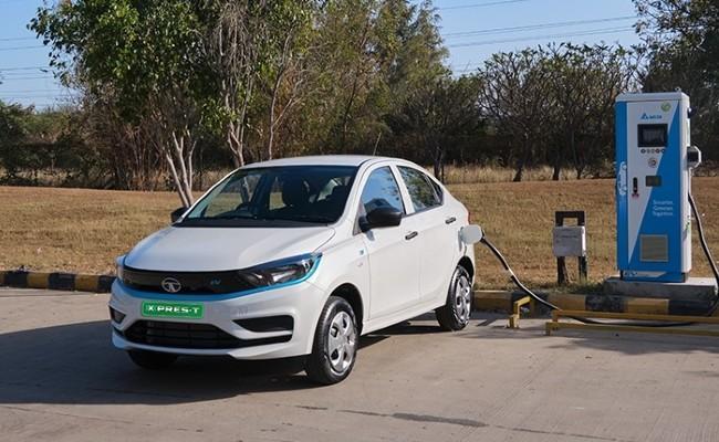2021 TATA Tigor Electric XPres T EV Launch Price RS 9 75 Lakh - Sakshi