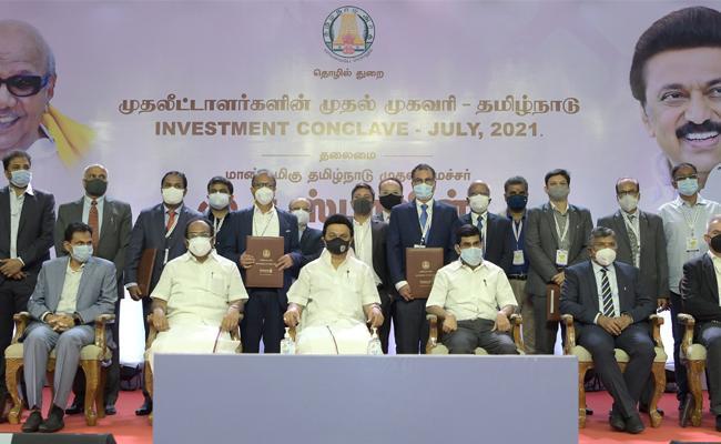 CM Stalin Govt Signs Investment Deal 49 MoUs In Tamil Nadu - Sakshi