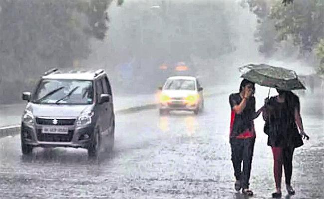 Heavy rains in 5 districts of Andhra Pradesh - Sakshi