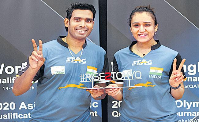 Sharath Kamal and Manika Batra face 3rd seeds in mixed doubles opener - Sakshi