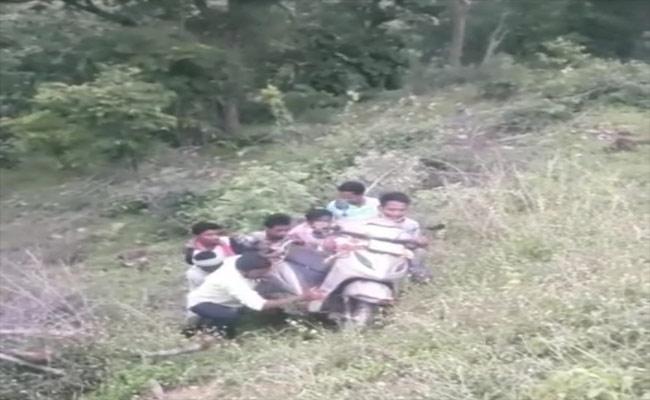Woman falls In Deep Valley In Adilabad - Sakshi