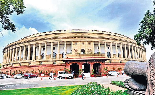 YSRCP MPs Protests in Parliament For AP Special Category Status - Sakshi
