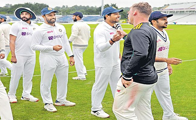 India Vs County Select XI Practice Match Ended In Draw - Sakshi