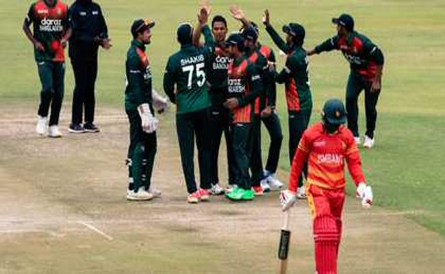 Bangladesh Clinches Super Victory Against Zimbabwe In 1st T20 - Sakshi