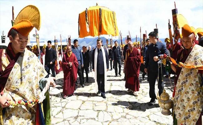 Xi Jinping Makes Rare Visit To Tibet First Time As President - Sakshi