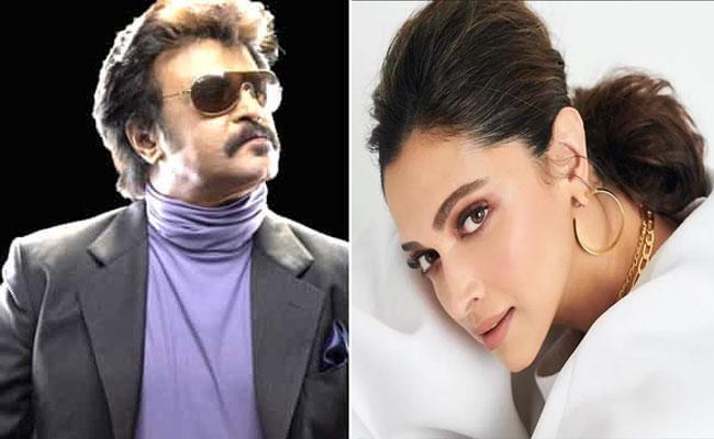 Deepika Padukone Likely To Pair With Rajinikanth - Sakshi
