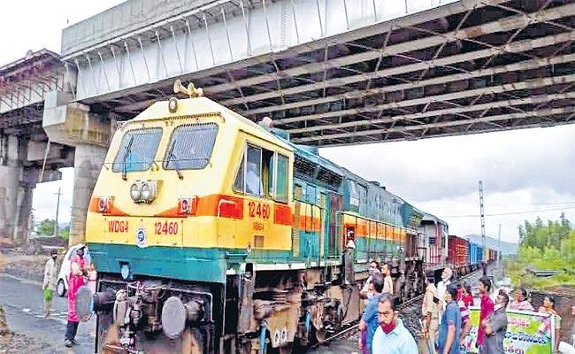 Trial Run Success Goods Traveling On Bhadrachalam Road To Sathupally - Sakshi