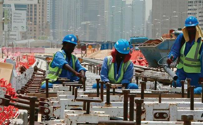 Central Rollback Circulars on Reducing Minimum Wages For Indian Workers in Gulf - Sakshi