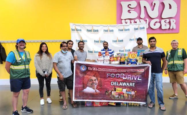 YSRCP Foundation Members Donated Food On Behalf of YSR Jayanthi - Sakshi