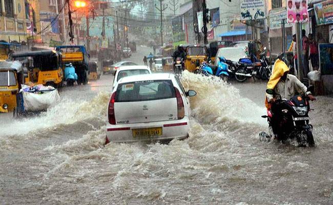 Red Alert In 3 Districts In Telangana - Sakshi