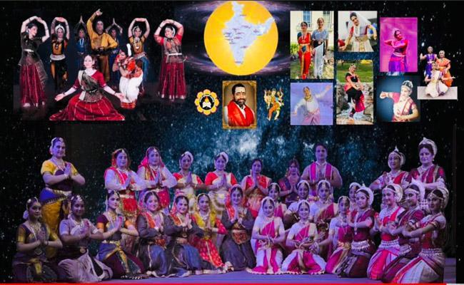 NRIs Performs Seven Different Dance forms On Guru Purnima - Sakshi
