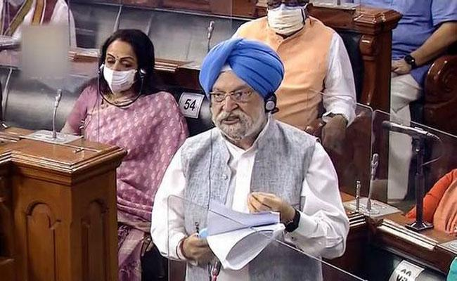 Hardeep Puri Says Madhya Pradesh Levies Highest Tax On Petrol Rajasthan On Diesel - Sakshi
